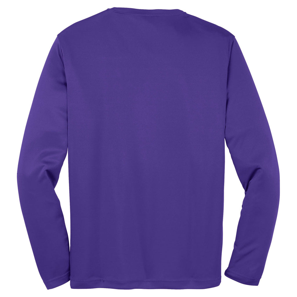 Sport-Tek Men's Purple Tall Long Sleeve PosiCharge Competitor Tee