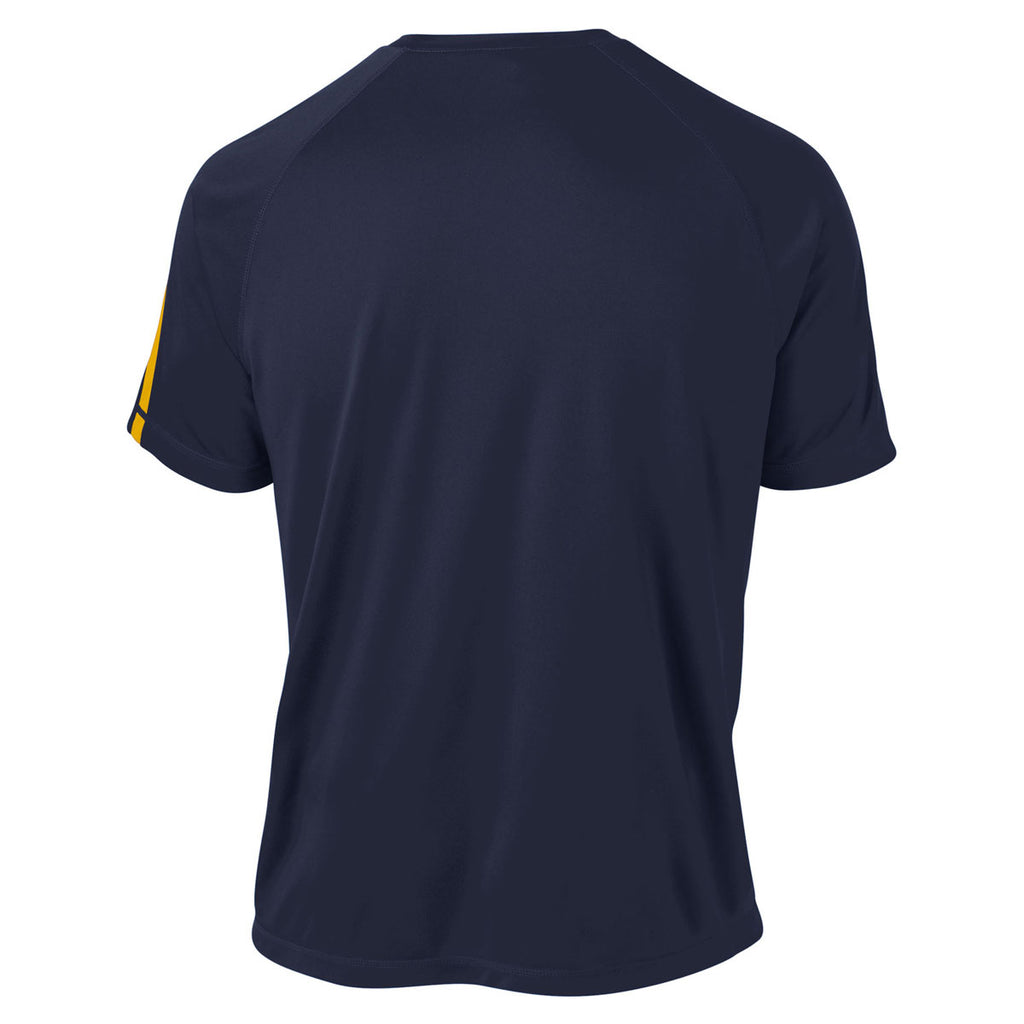 Sport-Tek Men's True Navy/ Gold Tall Colorblock PosiCharge Competitor Tee
