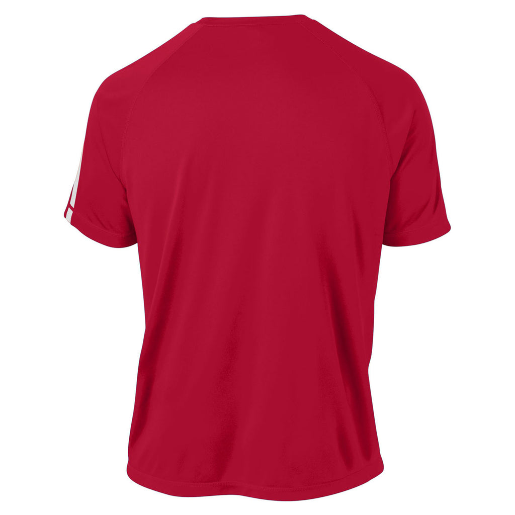 Sport-Tek Men's True Red/ White Tall Colorblock PosiCharge Competitor Tee