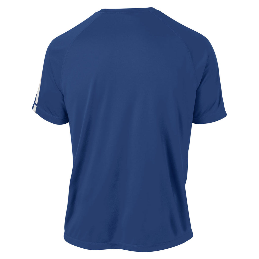 Sport-Tek Men's True Royal/ White Tall Colorblock PosiCharge Competitor Tee