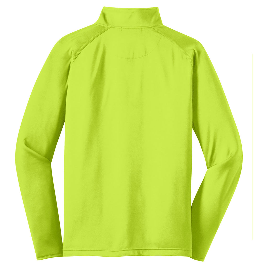 Sport-Tek Men's Charge Green Tall Sport-Wick Stretch 1/2-Zip Pullover