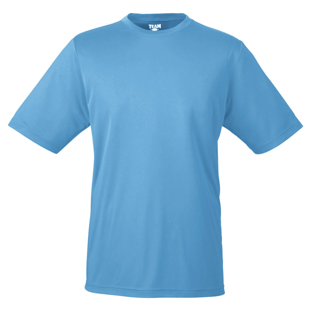 Team 365 Men S Sport Light Blue Zone Performance T Shirt