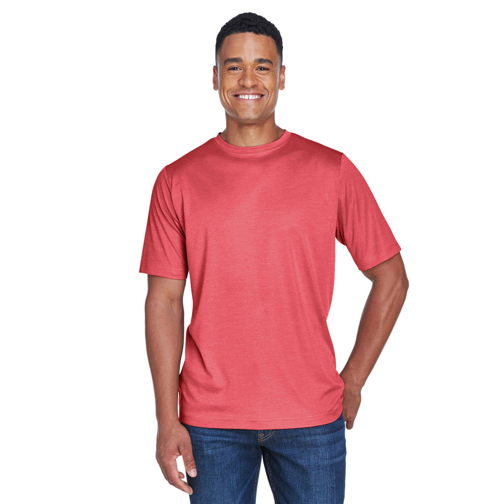 d0e0108e Team 365 Men's Sp Red Heather Zone Sonic Heather Performance T-Shirt. ADD  YOUR LOGO