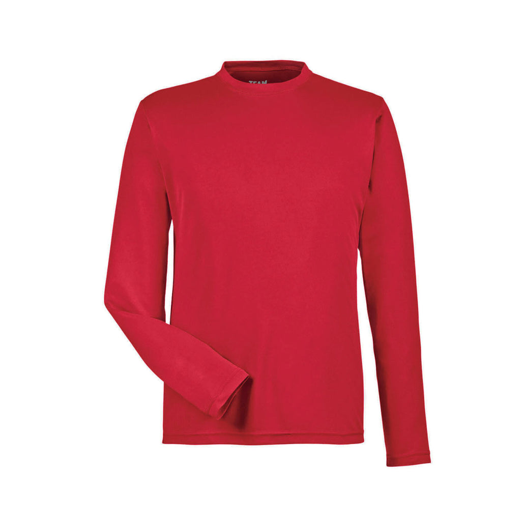 ca8326a6 Team 365 Men's Sport Red Zone Performance Long-Sleeve T-Shirt. ADD YOUR LOGO