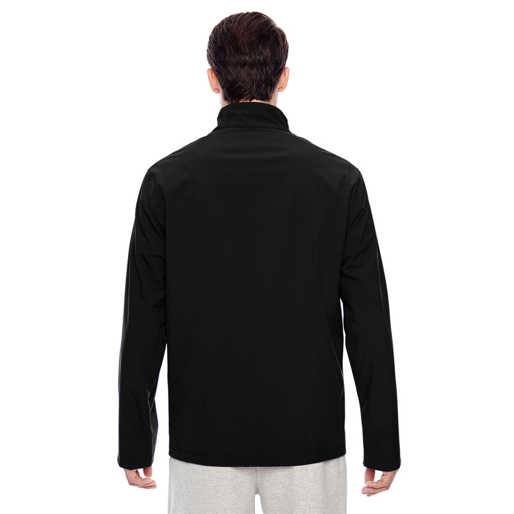 Team 365 Men's Black Leader Soft Shell Jacket
