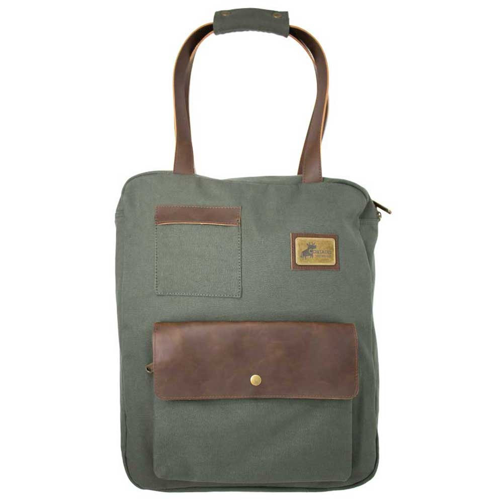 Origaudio Muted Green Turlee 2-in-1 Backpack and Tote
