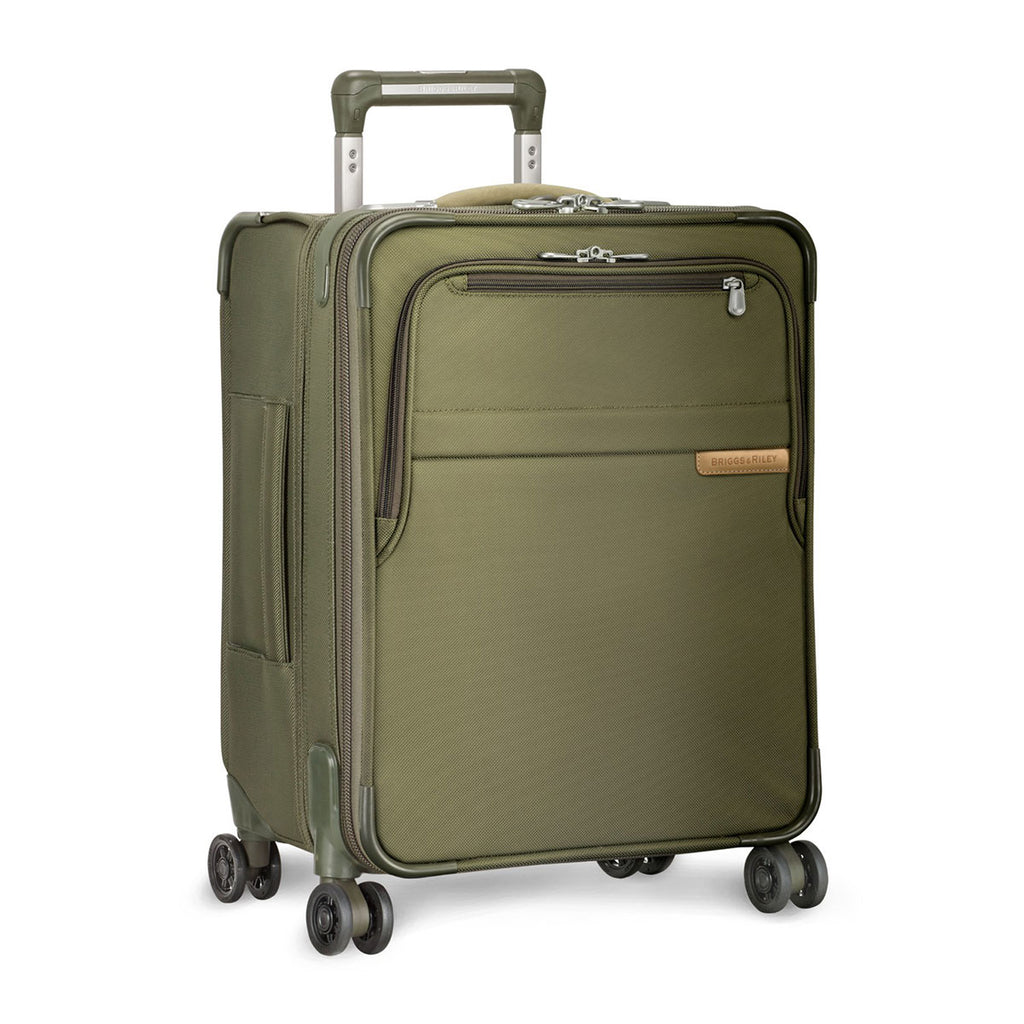 Briggs & Riley Olive Baseline International Carry-On Expandable Wide-Body Spinner