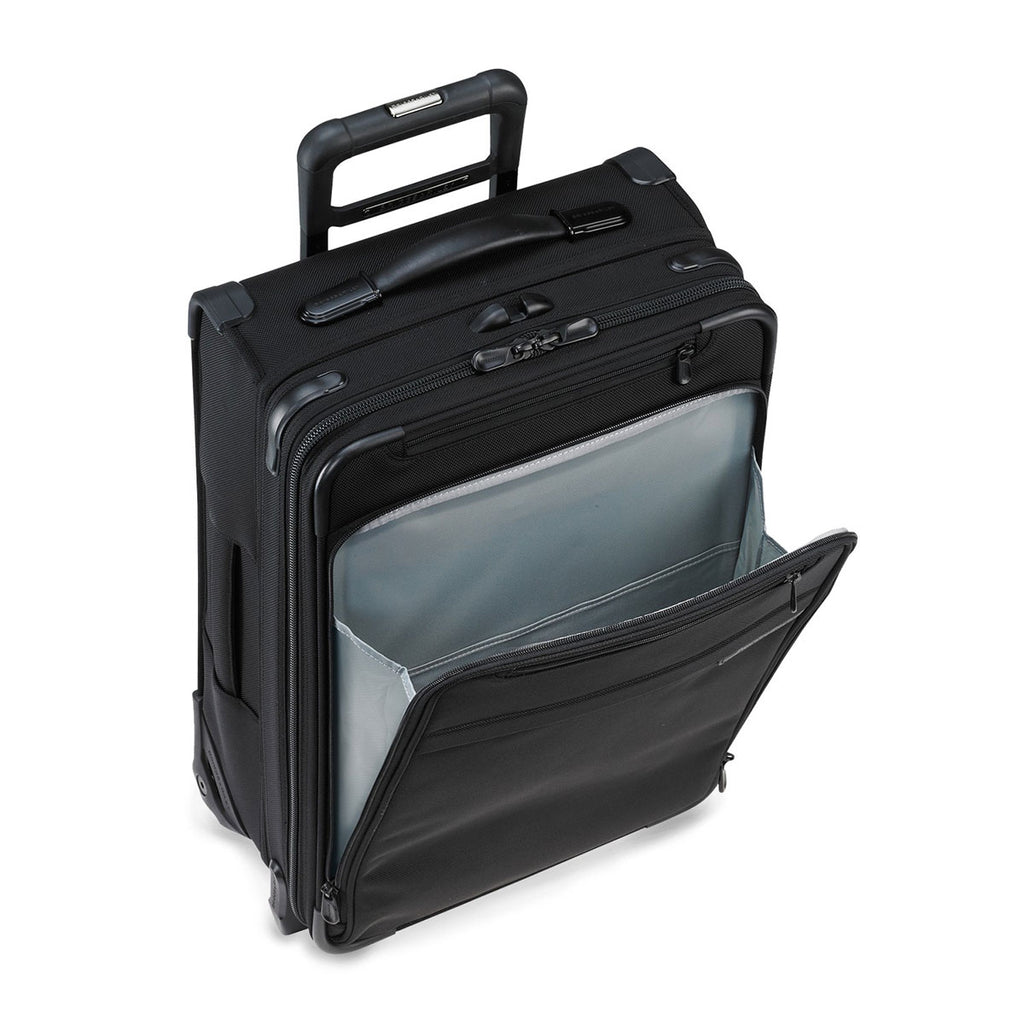 Briggs & Riley Black Baseline Domestic Carry-On Expandable Upright