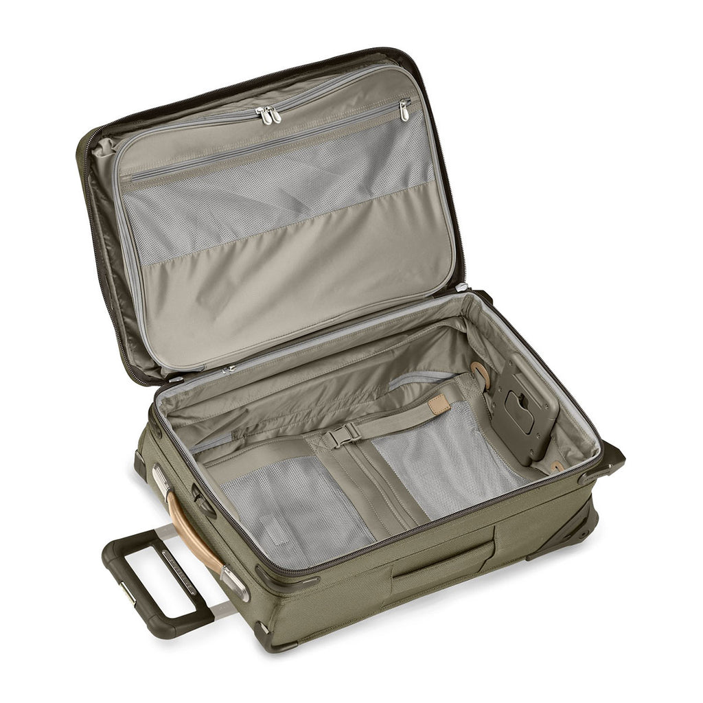 Briggs & Riley Olive Baseline Domestic Carry-On Expandable Upright