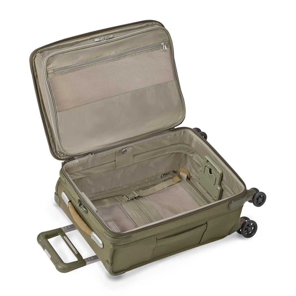 Briggs & Riley Olive Baseline Domestic Carry-On Expandable Spinner