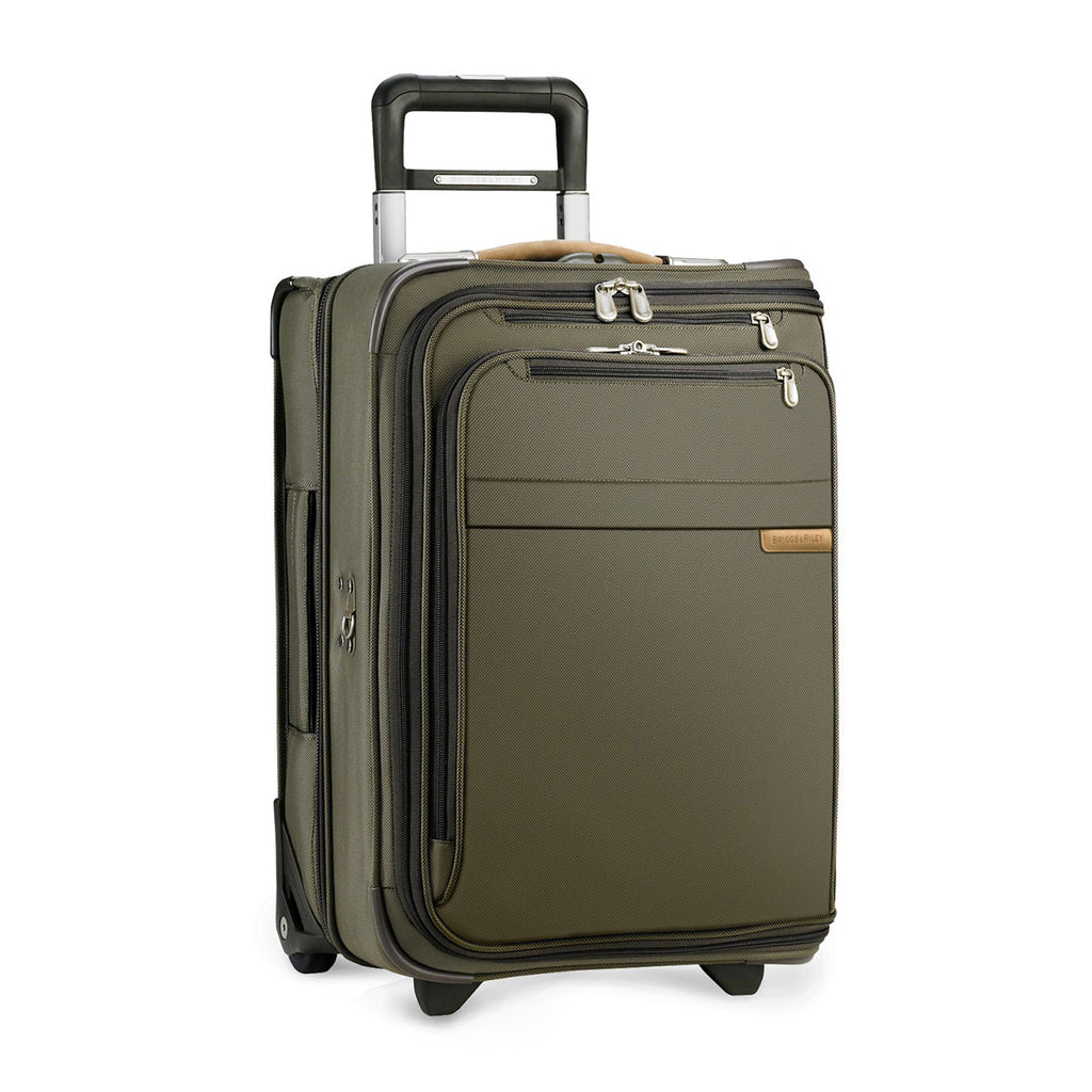 Briggs & Riley Olive Baseline Domestic Carry-On Upright Garment Bag