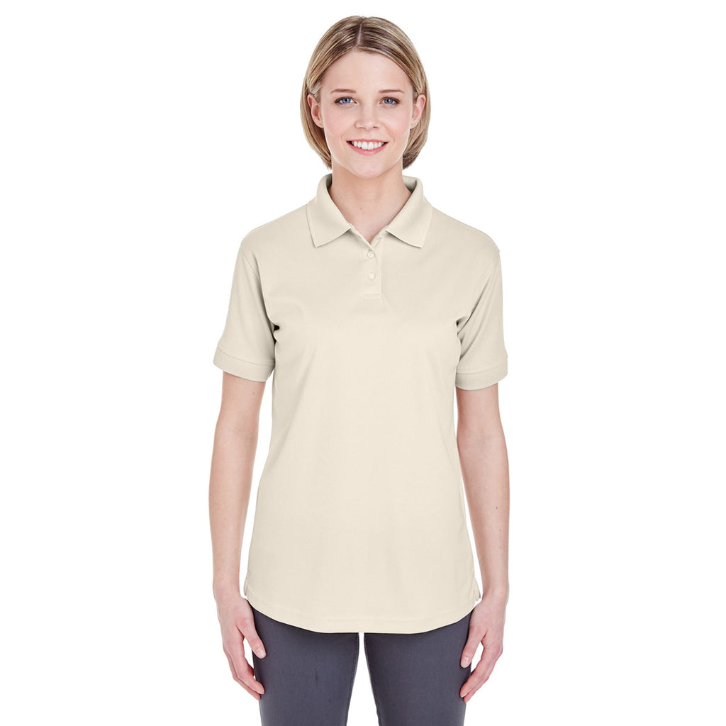UltraClub Women s Stone Platinum Performance Pique Polo with TempContr 8b7682746