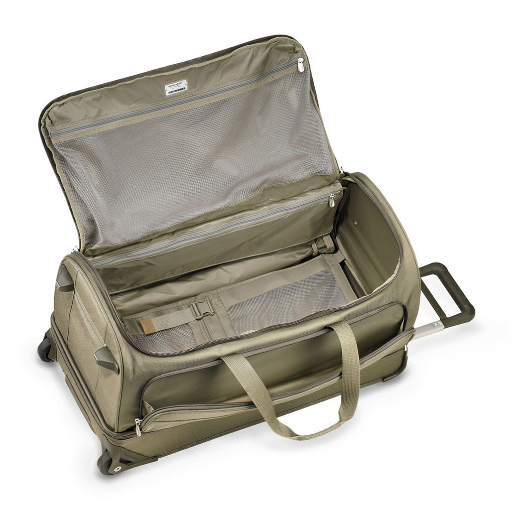 Briggs & Riley Olive Baseline Large Upright Duffle