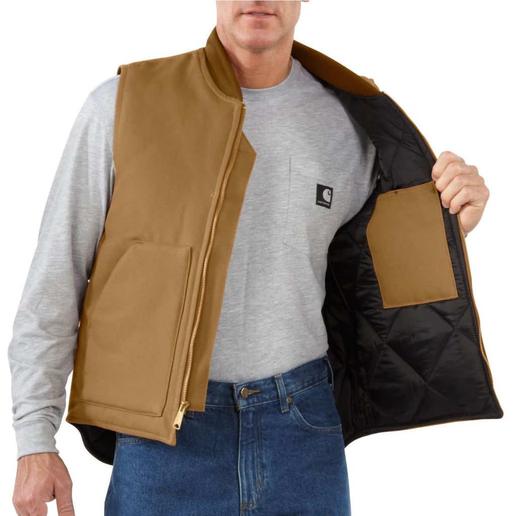 Carhartt Men's Carhartt Brown Duck Vest