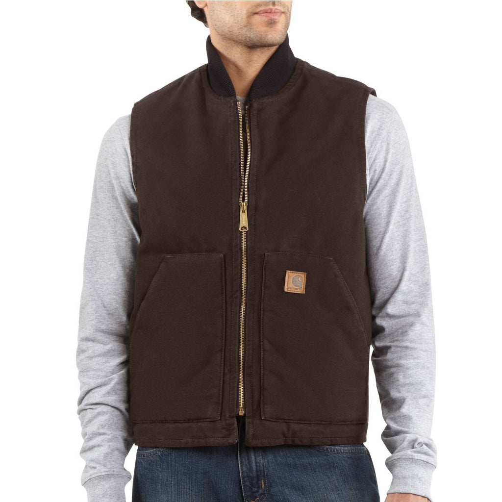 Carhartt Men's Dark Brown Sandstone Vest