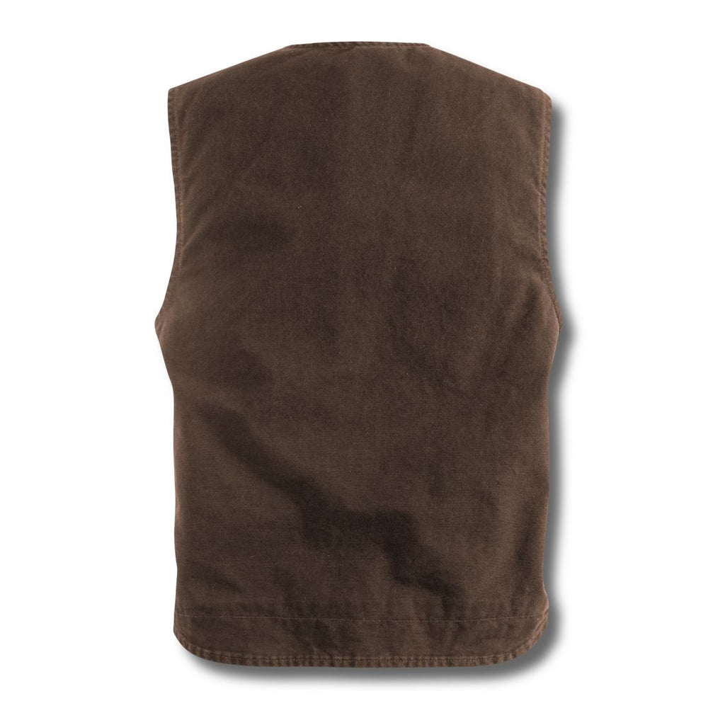 Carhartt Men's Dark Brown Rugged Vest