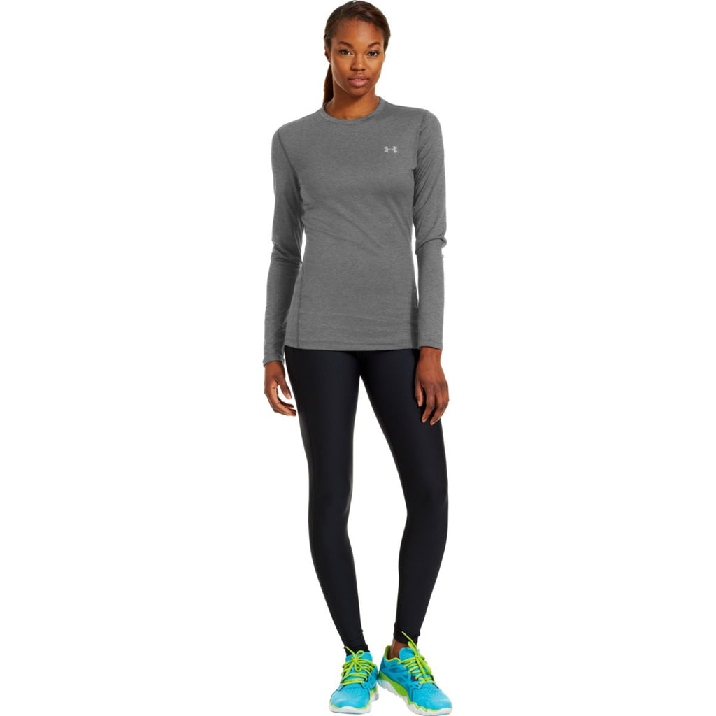Under Armour Women's Carbon Heather ColdGear Fitted L/S Crew