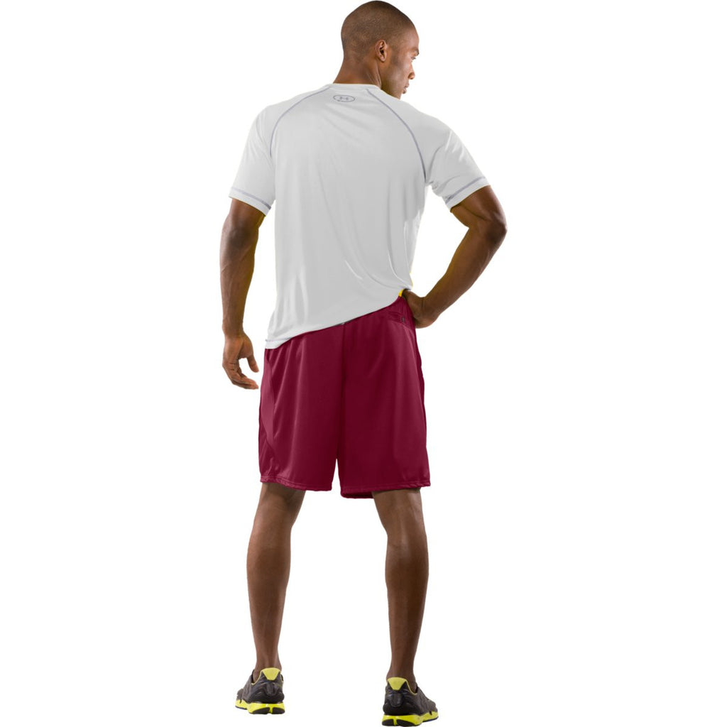 Under Armour Men's Maroon Team Coaches Shorts