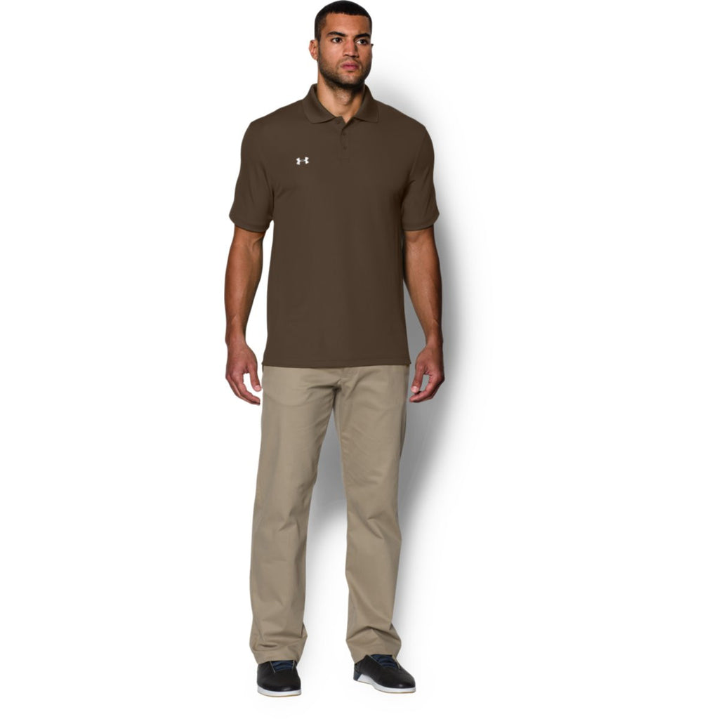 Under Armour Men's Brown Performance Team Polo