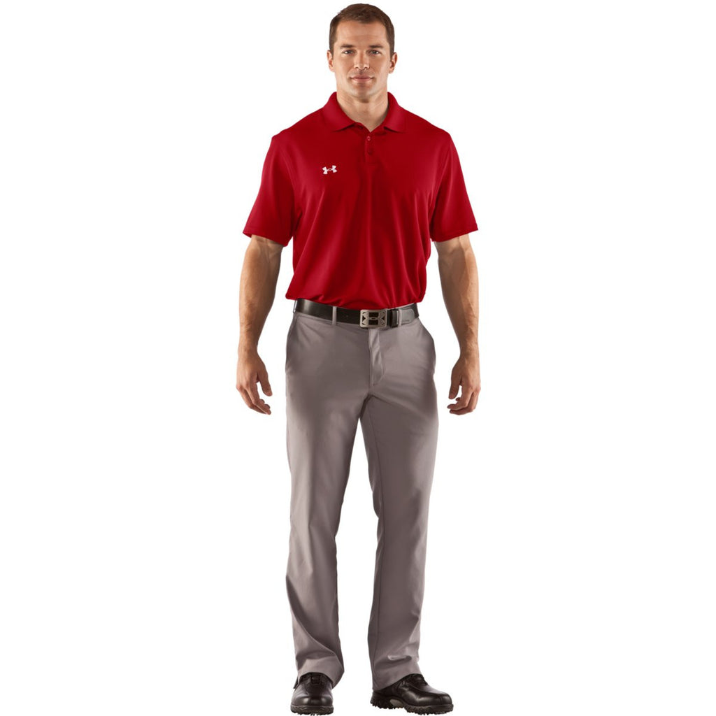 Under Armour Men's Red Performance Team Polo