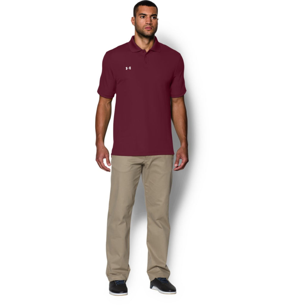 Under Armour Men's Maroon Performance Team Polo