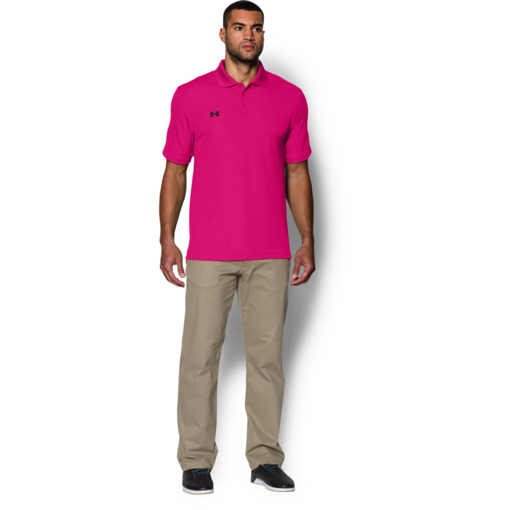 Under Armour Men's Tropic Pink Performance Team Polo