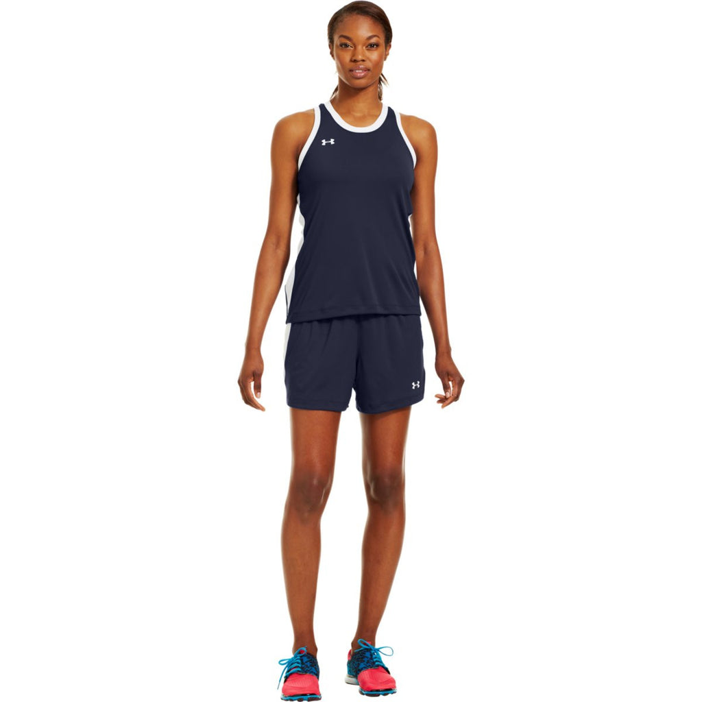 Under Armour Women's Navy Recruit Sleeveless T-Shirt