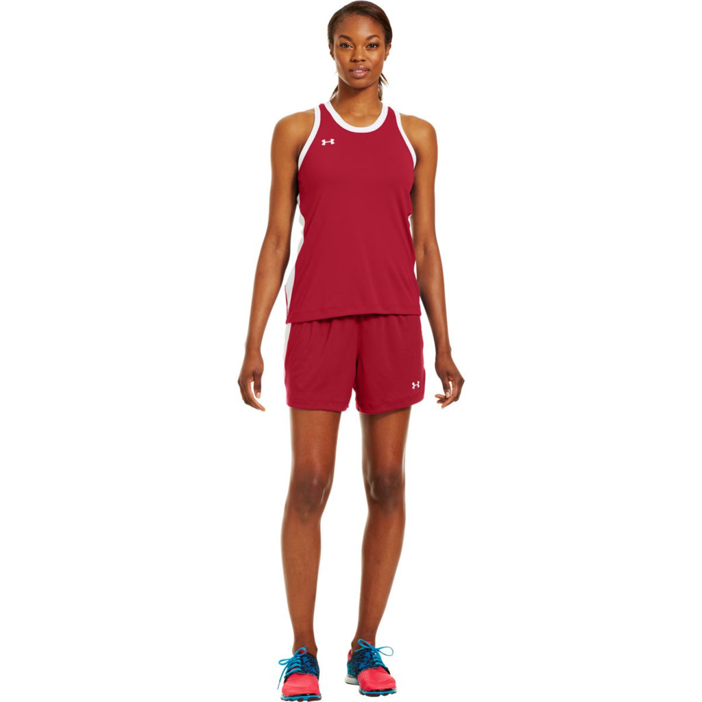 Under Armour Women's Red Recruit Sleeveless T-Shirt