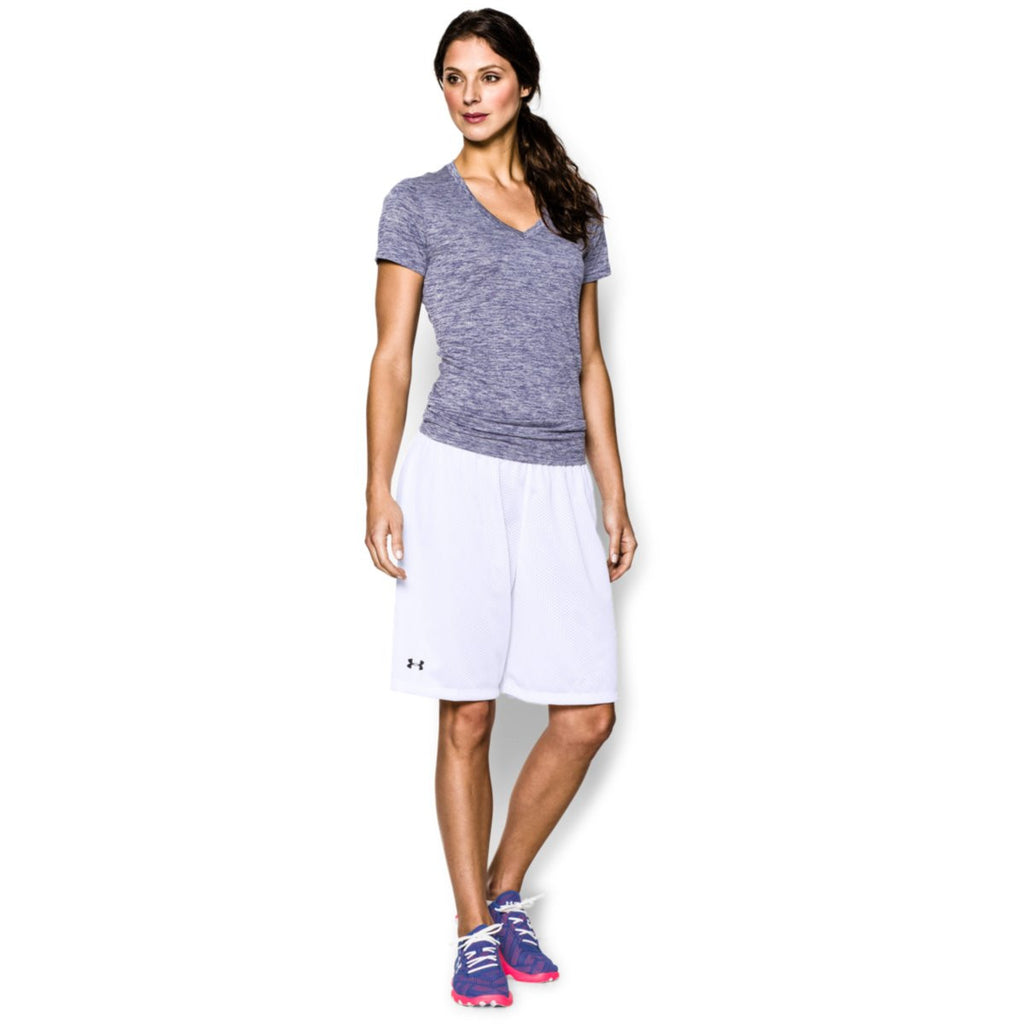 Under Armour Women's White Double Shorts