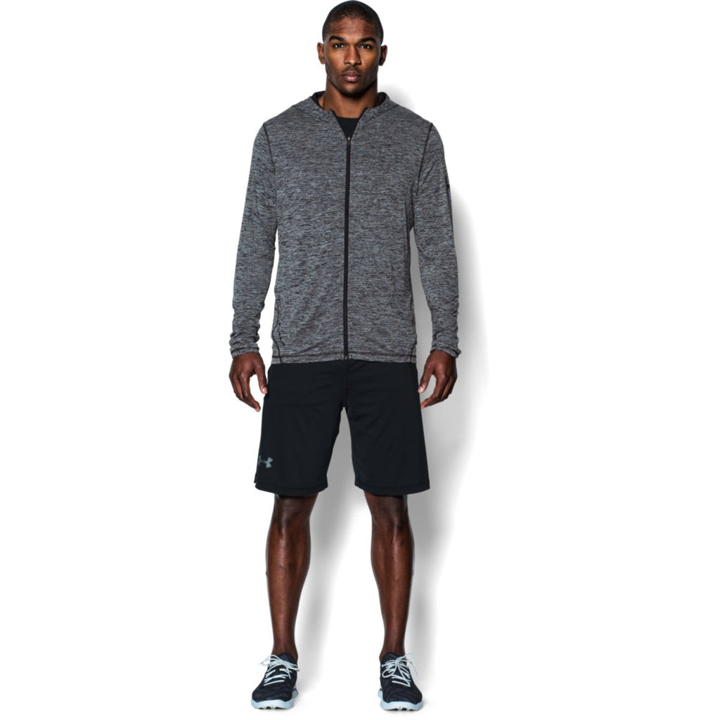 Under Armour Corporate Men's Black Heather Tech Full Zip Hoodie