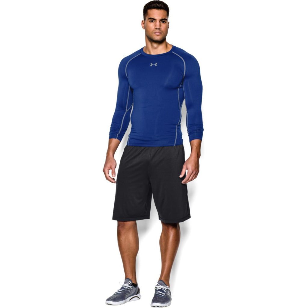 Under Armour Men's Blue HeatGear Armour L/S Compression Shirt