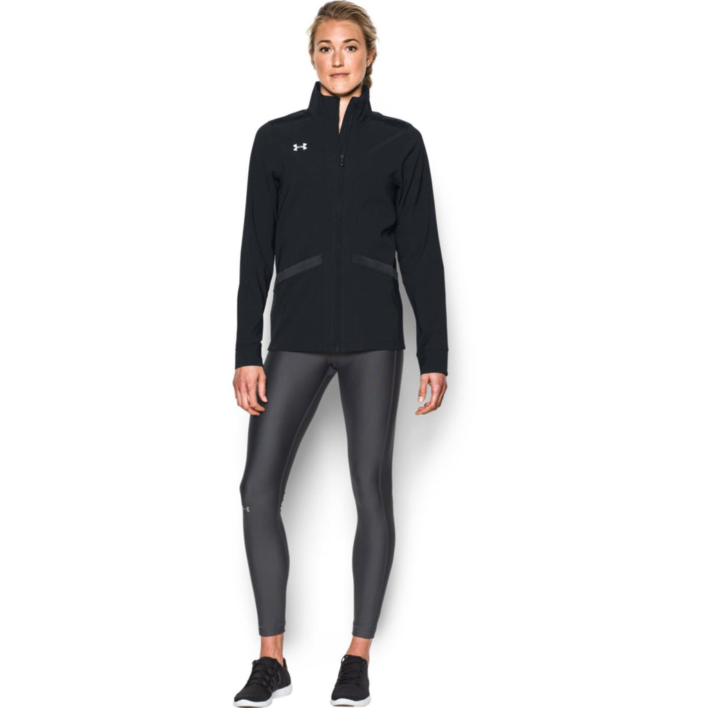 Under Armour Women's Black Pre-Game Woven Jacket