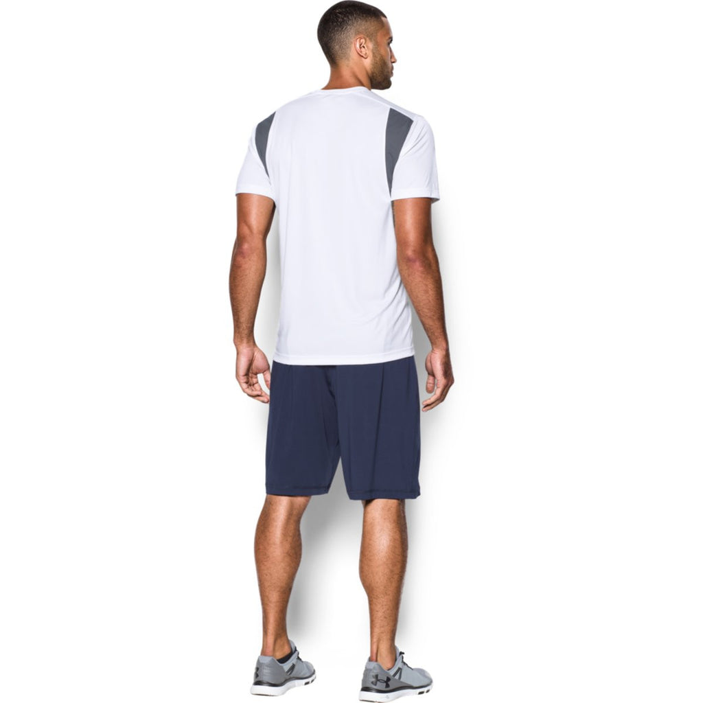 Under Armour Men's White Zone S/S T-Shirt