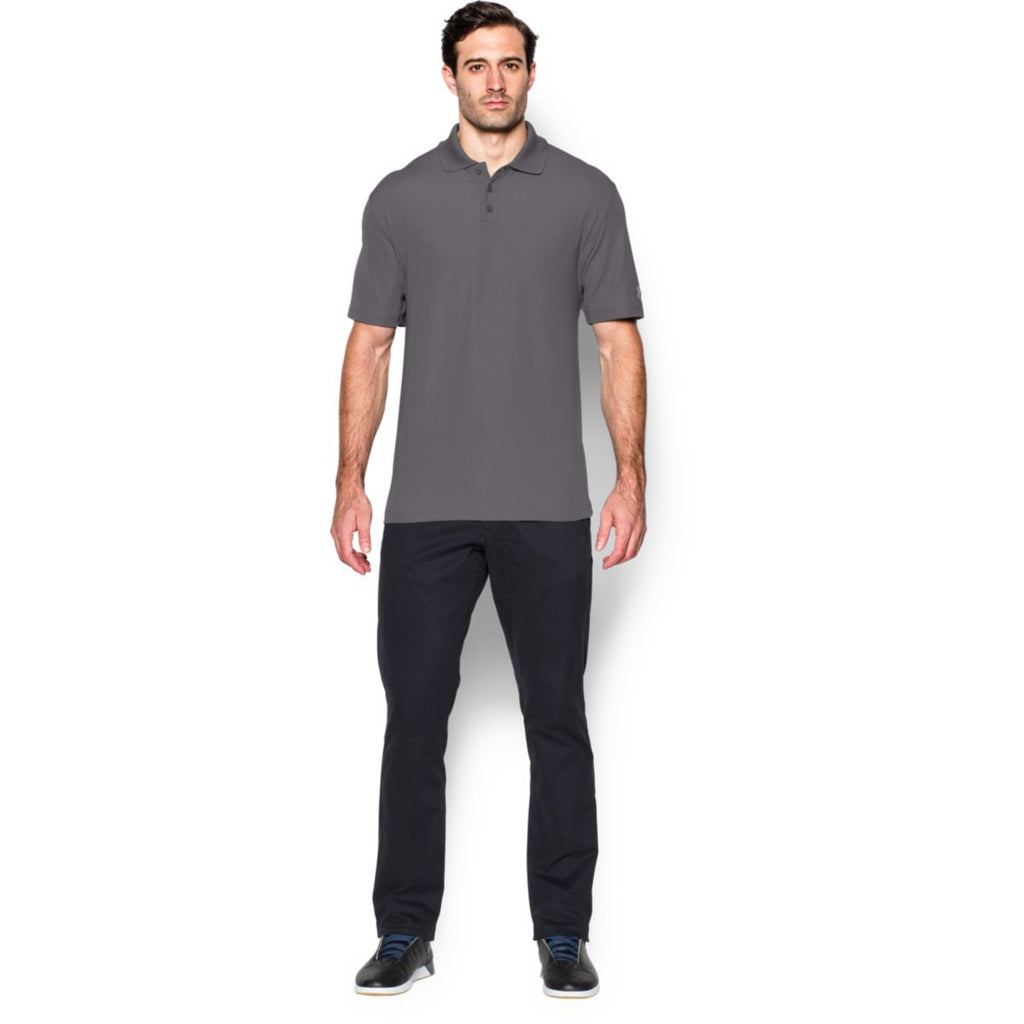 Rally Under Armour Corporate Men's Graphite Performance Polo