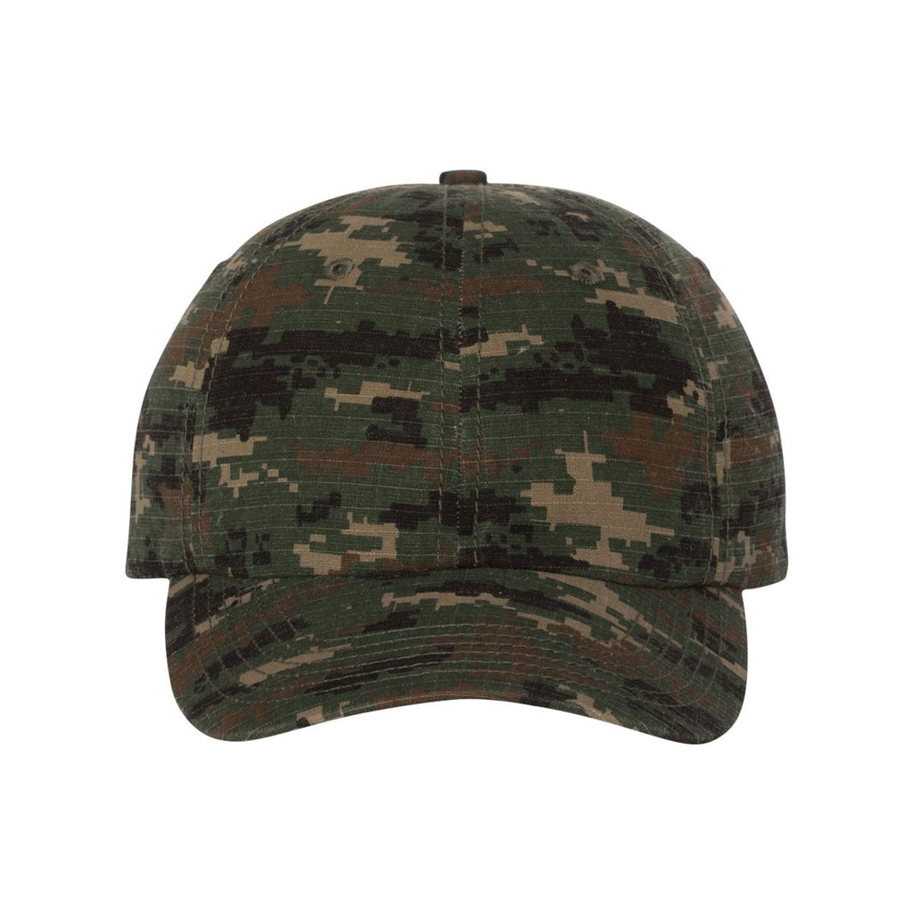 9d300e87e36 Valucap Green Digital Camo Classic Dad s Cap. ADD YOUR LOGO