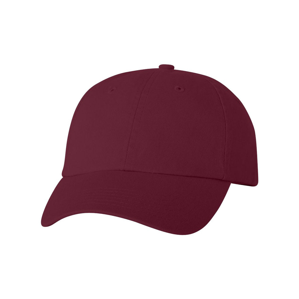 33e5e18766a Valucap Maroon Classic Dad s Cap. ADD YOUR LOGO