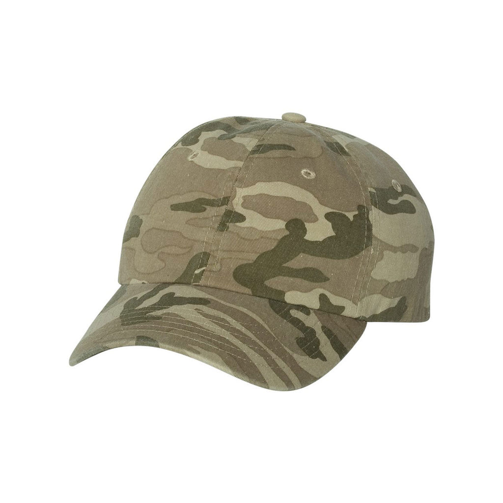 127397b23f0 Valucap Tan Camo Classic Dad s Cap. ADD YOUR LOGO