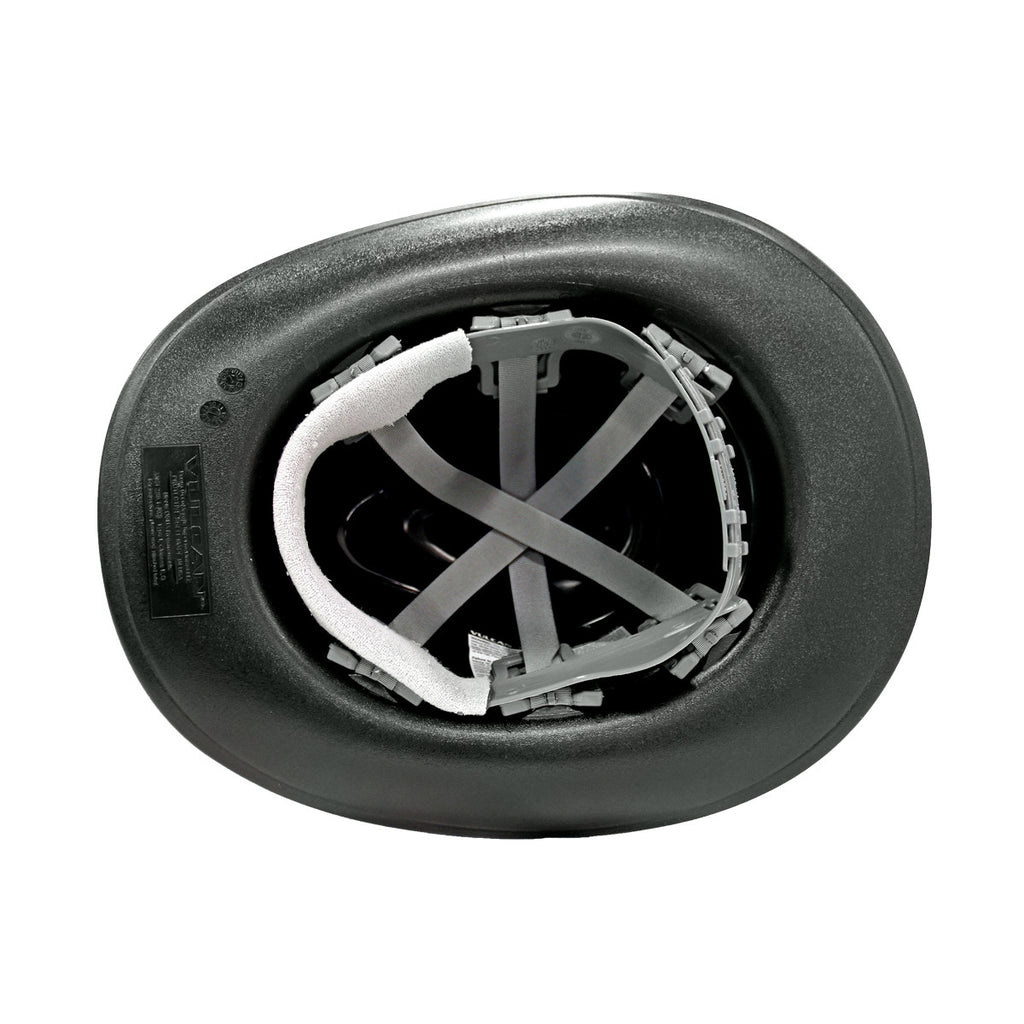 OccuNomix Black Cowboy Style Hard Hat (Squeeze-Lock Suspension)