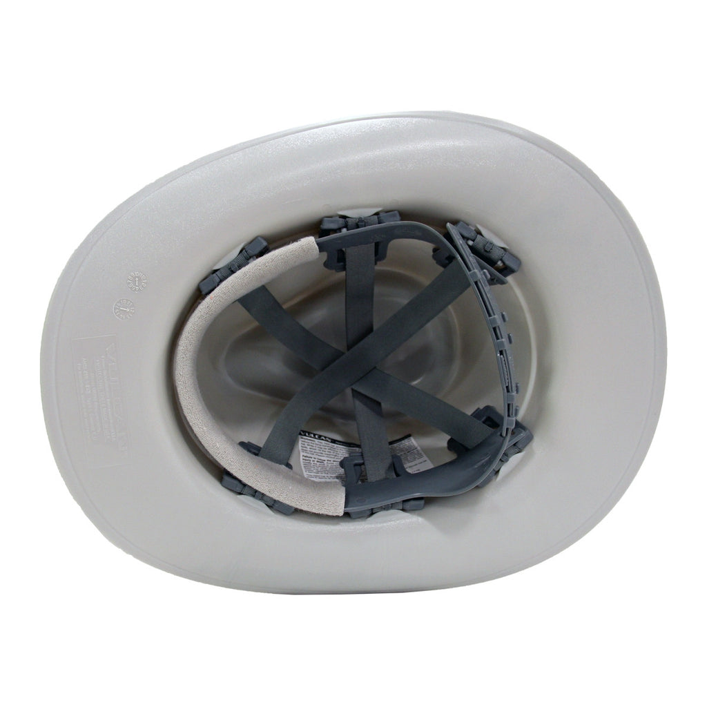 OccuNomix Grey Cowboy Style Hard Hat (Squeeze-Lock Suspension)