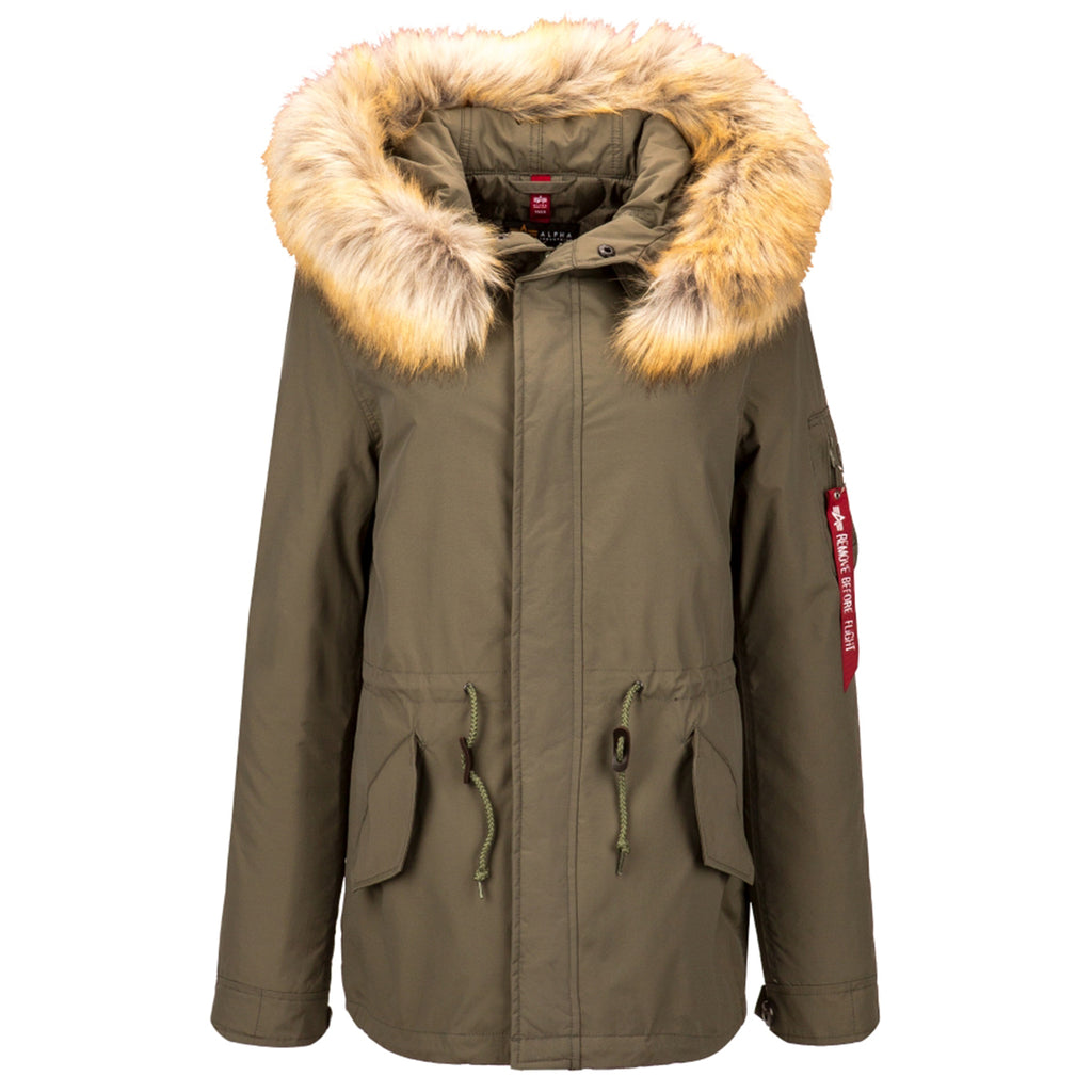 the latest f7c47 492a5 Alpha Industries Women's Olive J-4 Impact Fishtail Parka