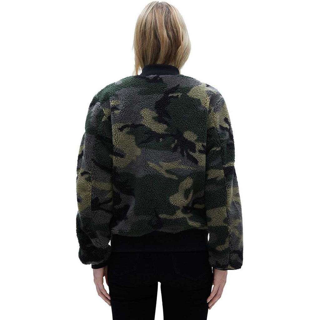 Alpha Industries Women's Woodland Camo L-2B Sherpa Flight Jacket