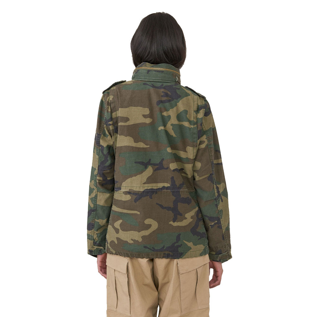 Alpha Industries Women's Woodland Camo M-65 Defender Field Coat