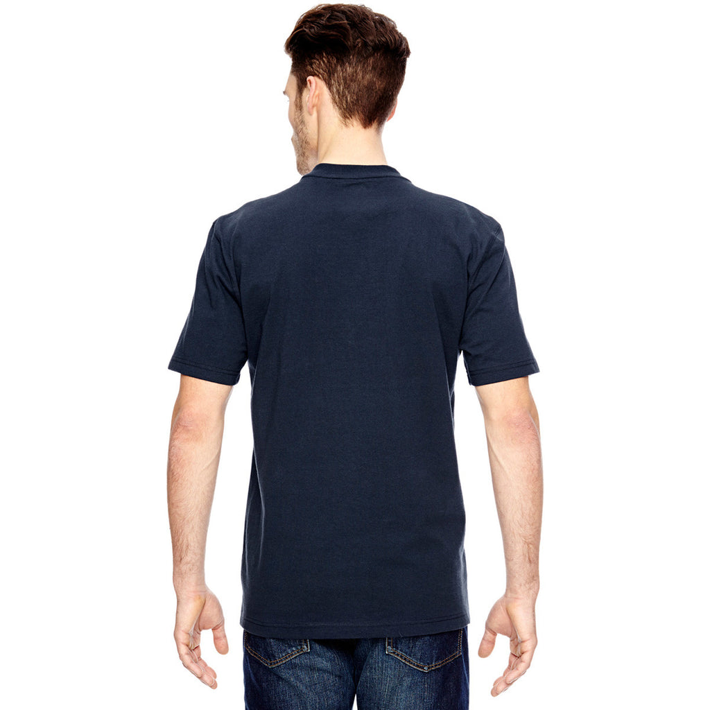Dickies Men's Dark Navy Heavyweight Work Henley