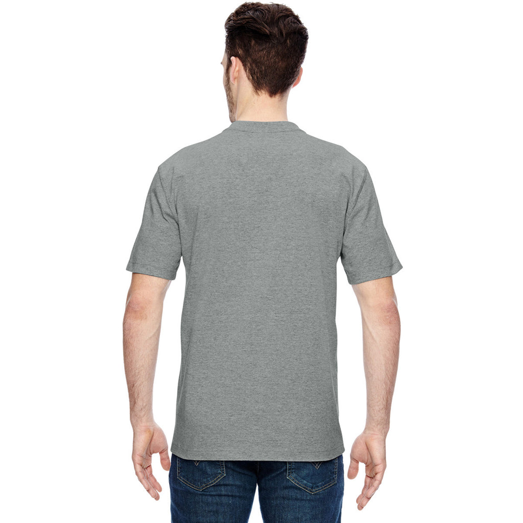 Dickies Men's Heather Grey Heavyweight Work Henley
