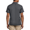 Dickies Men's Charcoal Short Sleeve Slim Fit Flex Twill Work Shirt