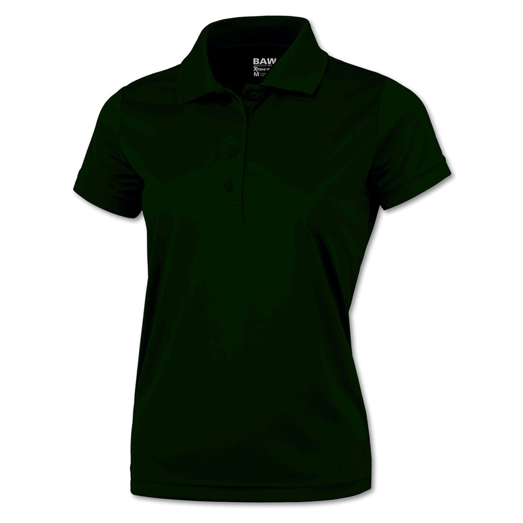 BAW Women s Dark Green Xtreme Tek Polo 0baa8ee4a2