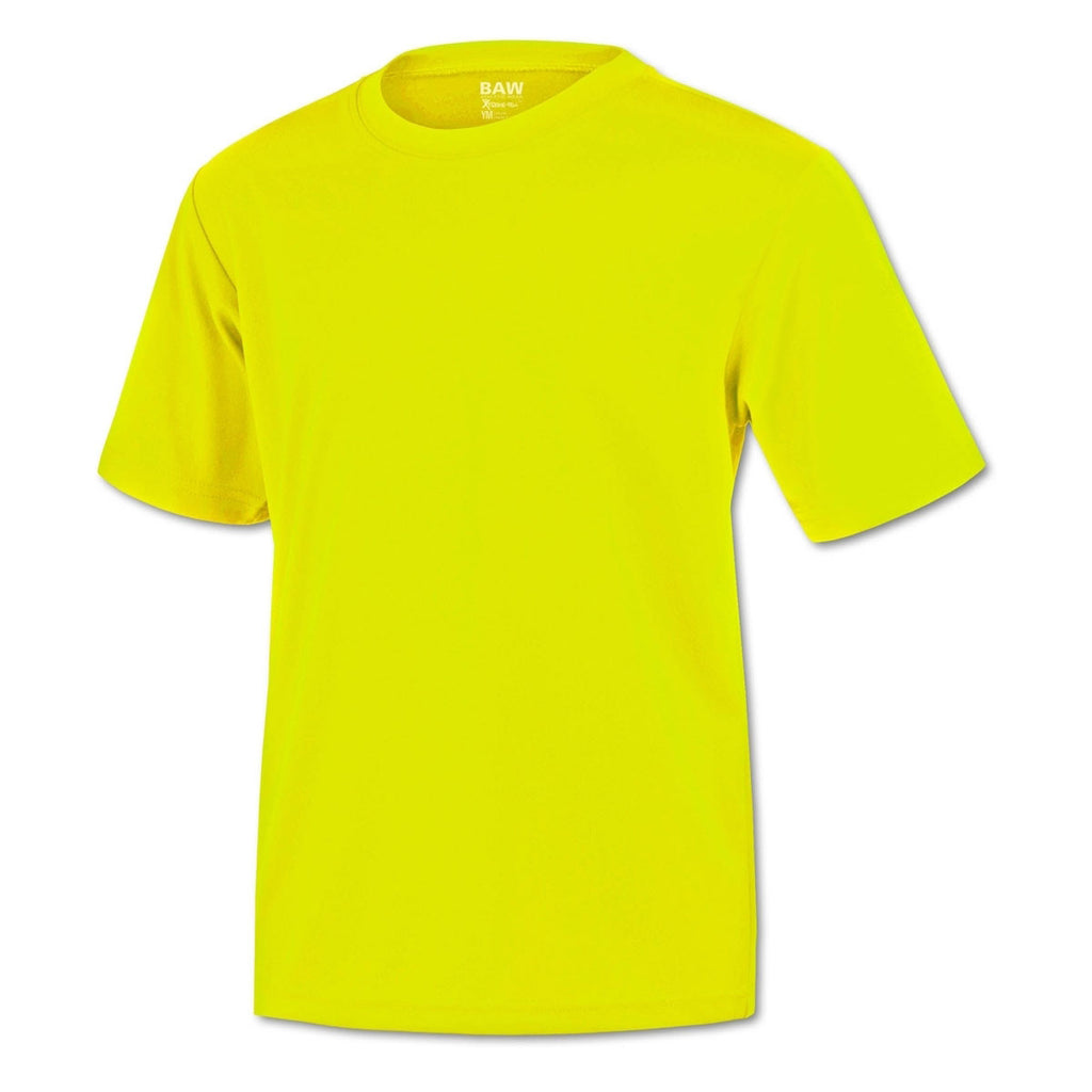 BAW Men's Neon Yellow Xtreme Tek T-Shirt