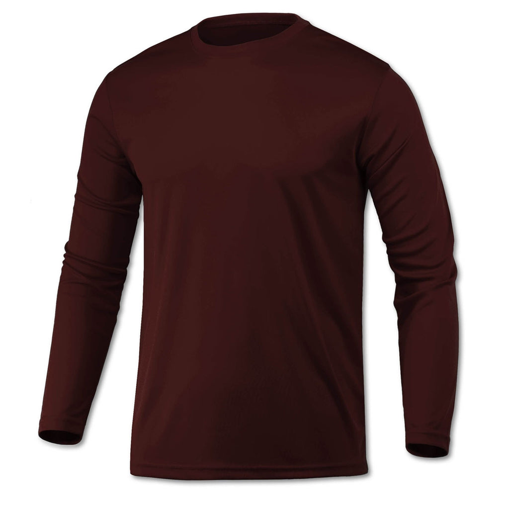 BAW Men s Maroon Xtreme Tek Long Sleeve Shirt 5575a543edd