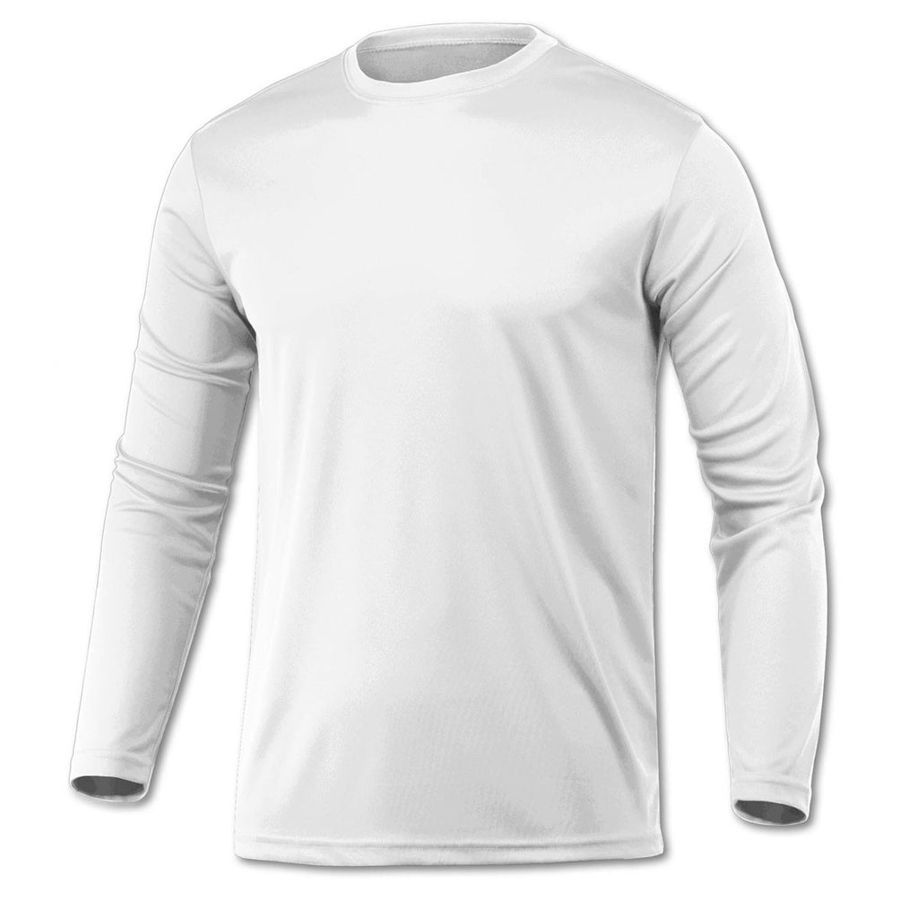 67a2807b3 BAW Men's White Xtreme Tek Long Sleeve Shirt