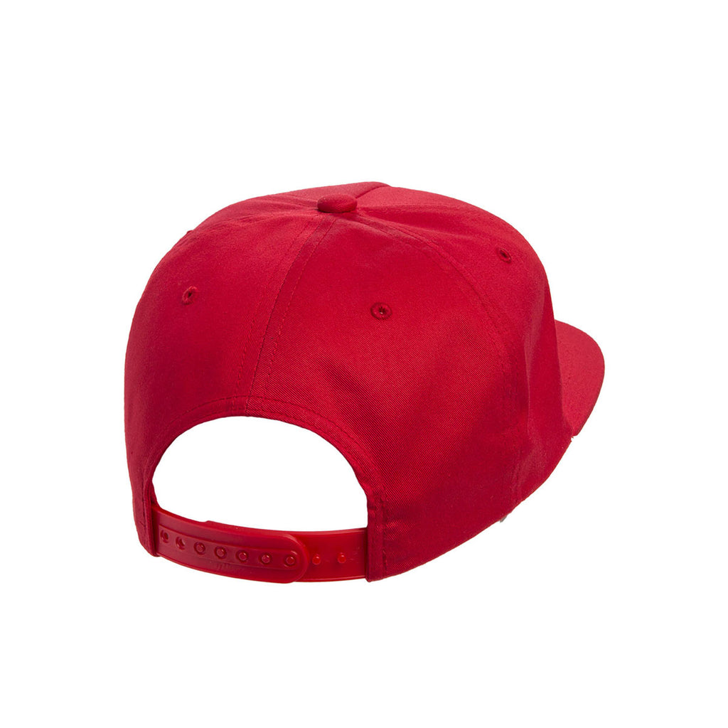 22f10885266bd Yupoong Red Unstructured 5-Panel Snapback Cap